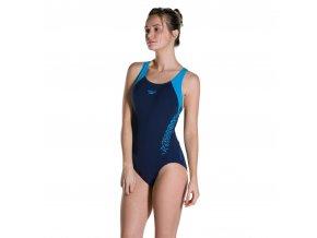 speedo womens swimsuit.boom splice bust support navy swimming swim costume 8w 77 [2] 124030 p