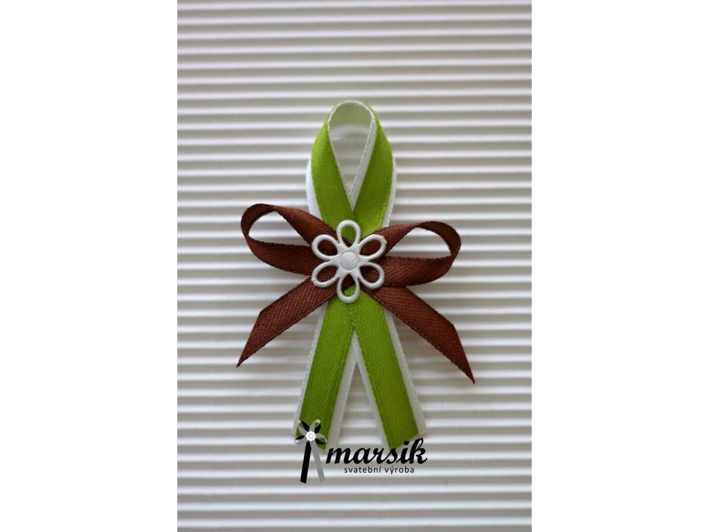 Vývazek green brown Sophie