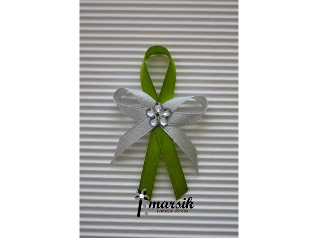 Vývazek green silver Emma