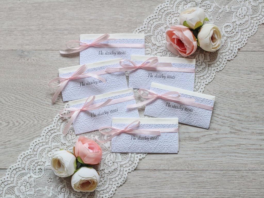 Svatební kapesníček creamy