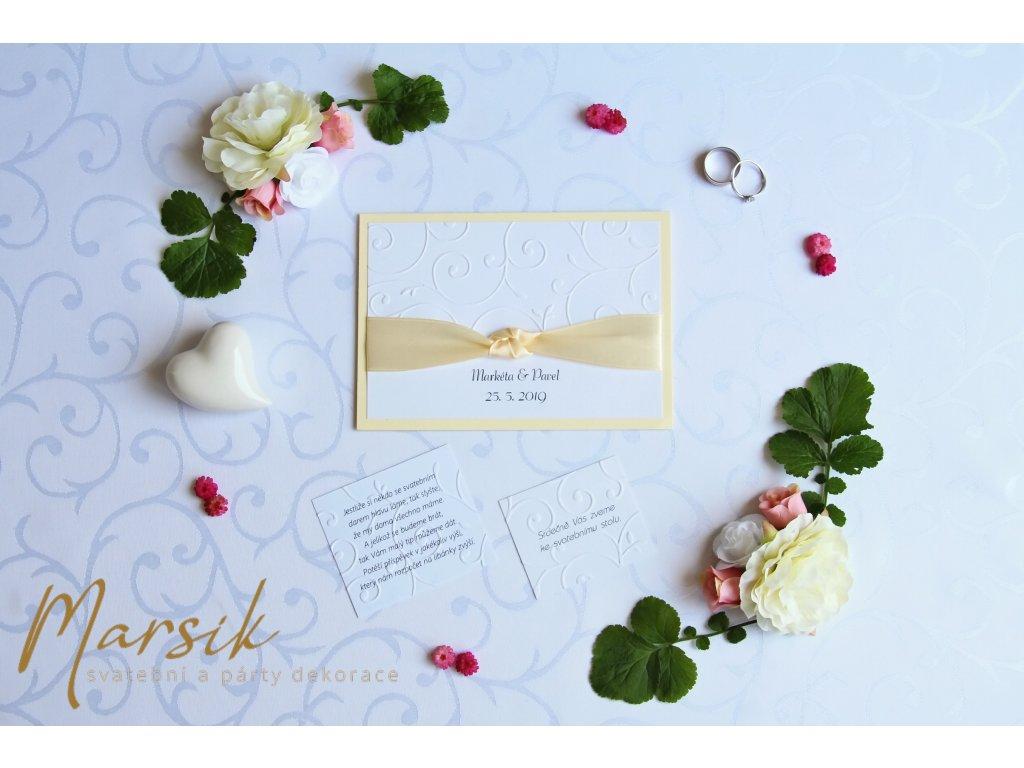 Svatební oznámení creamy floral