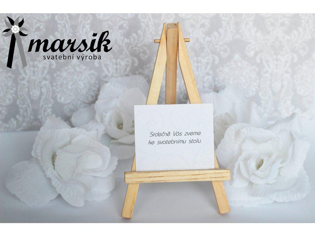 Pozvánka ke stolu creamy floral
