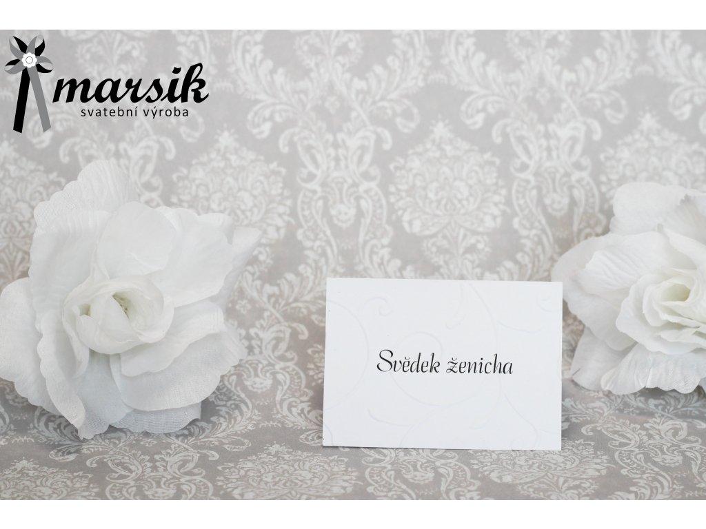 Jmenovka creamy floral
