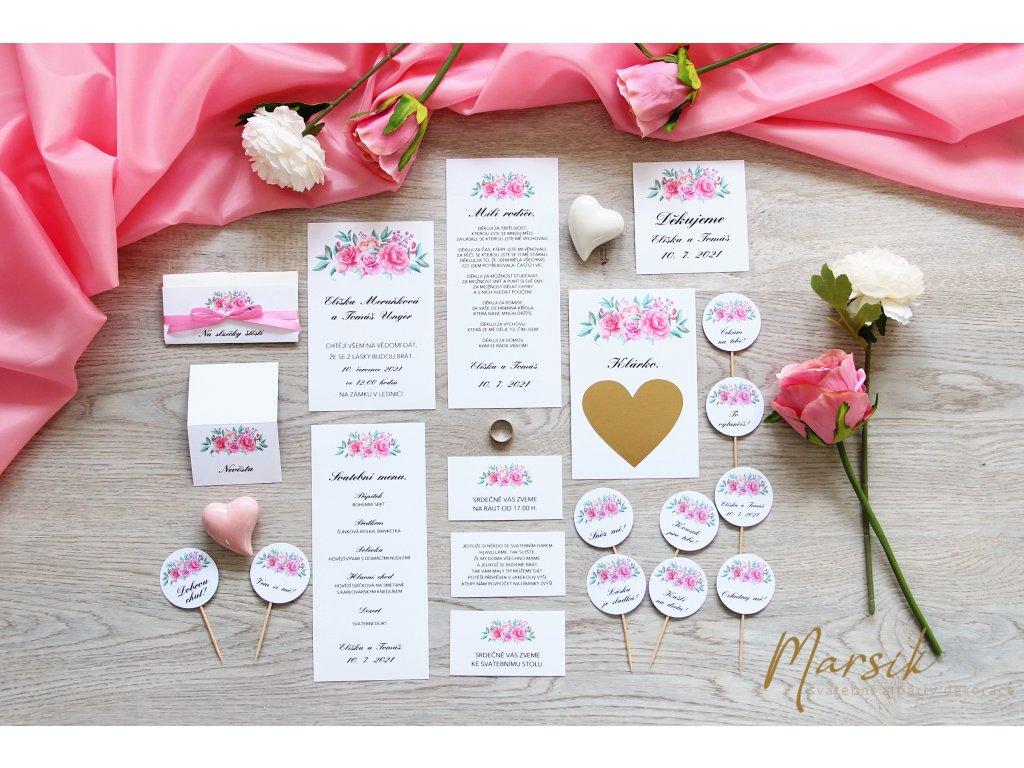 Svatební oznámení Rose