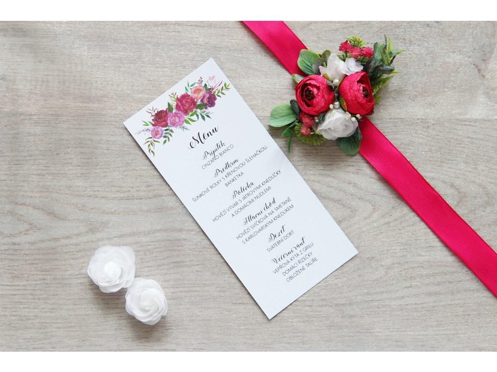 Svatební menu SV101