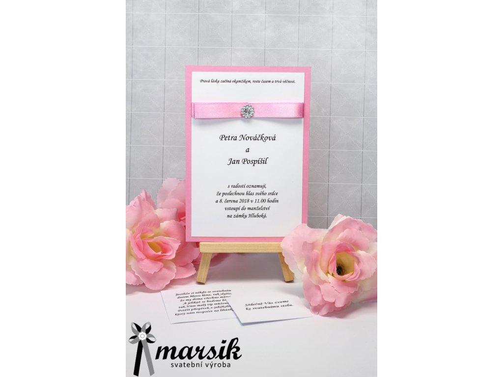 Svatební oznámení pink