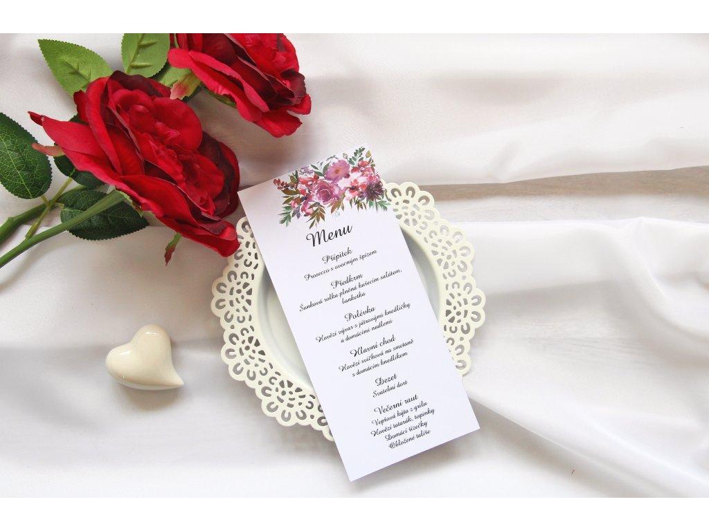 Svatební menu SV103