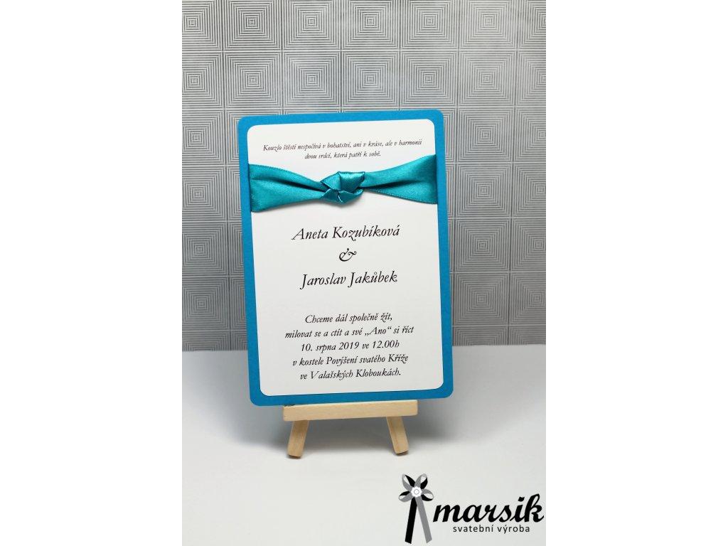 Svatební oznámení turquoise