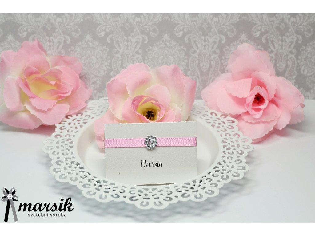 Jmenovka PINK BRIDE