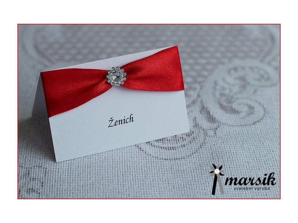 Jmenovka luxury red