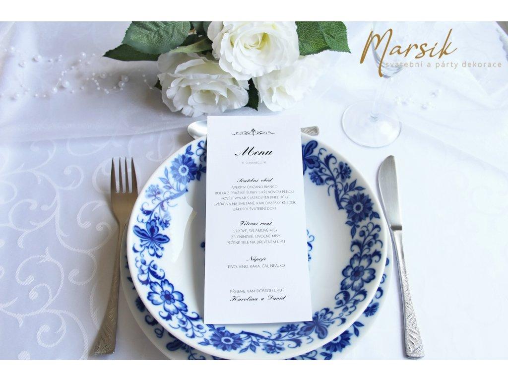 Svatební menu ornament