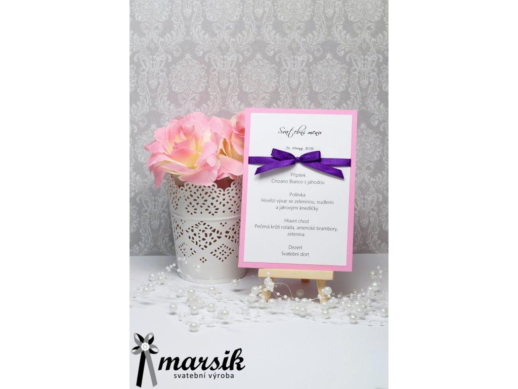 Svatební menu violet