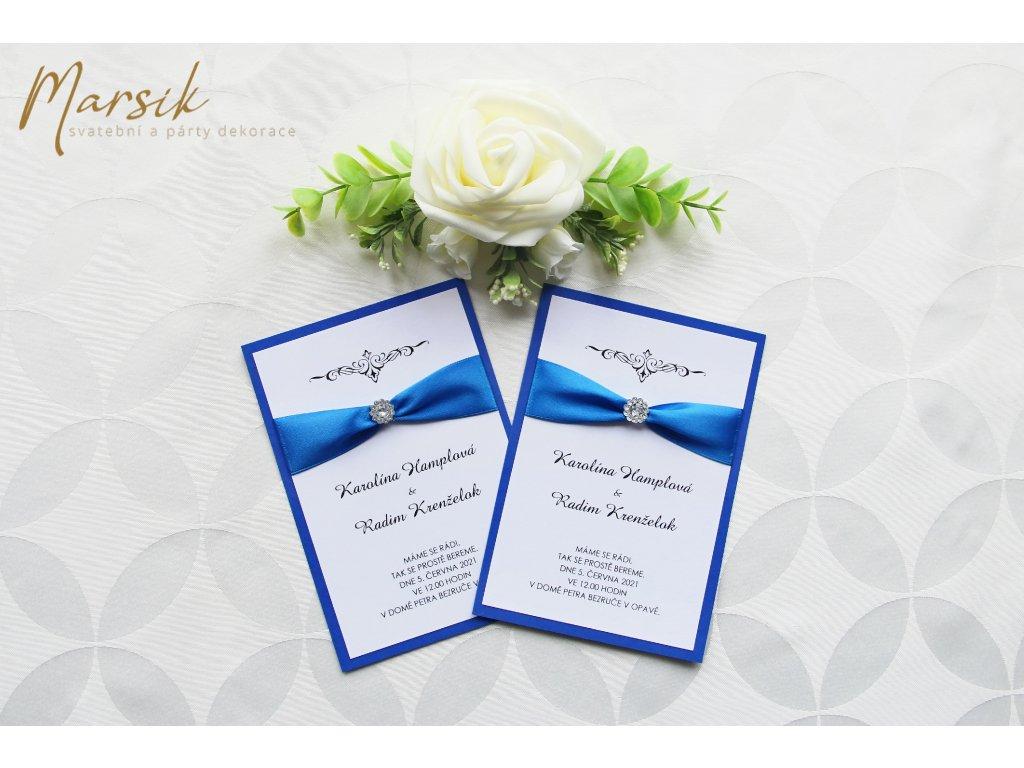 Svatební oznámení luxury royal