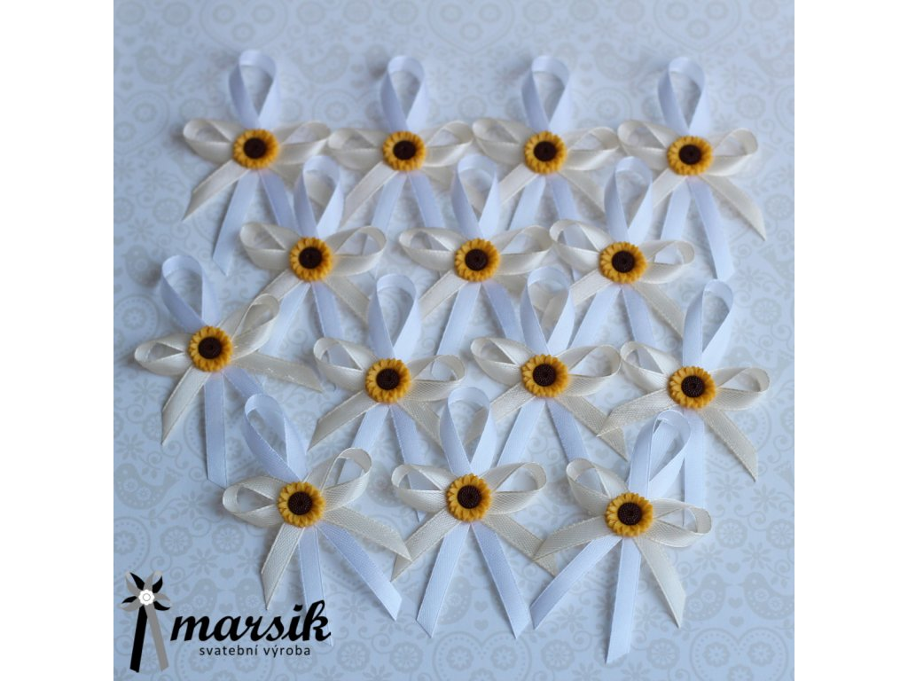 Vývazek creamy sunflower