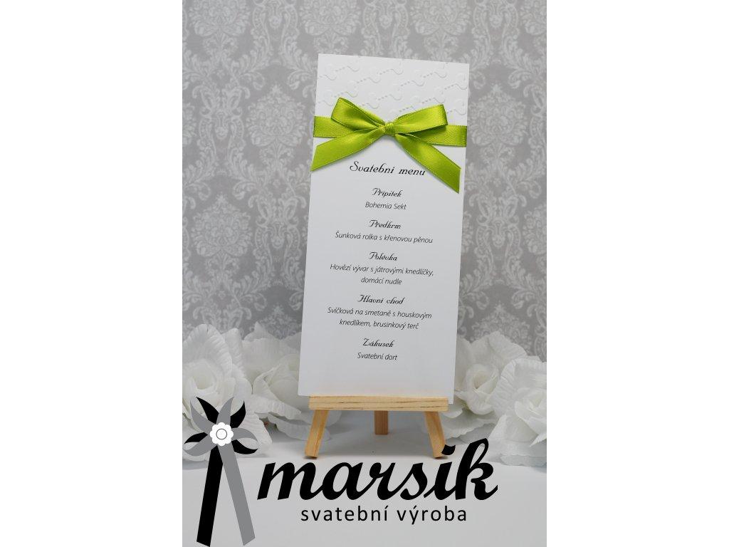 Svatební menu green love