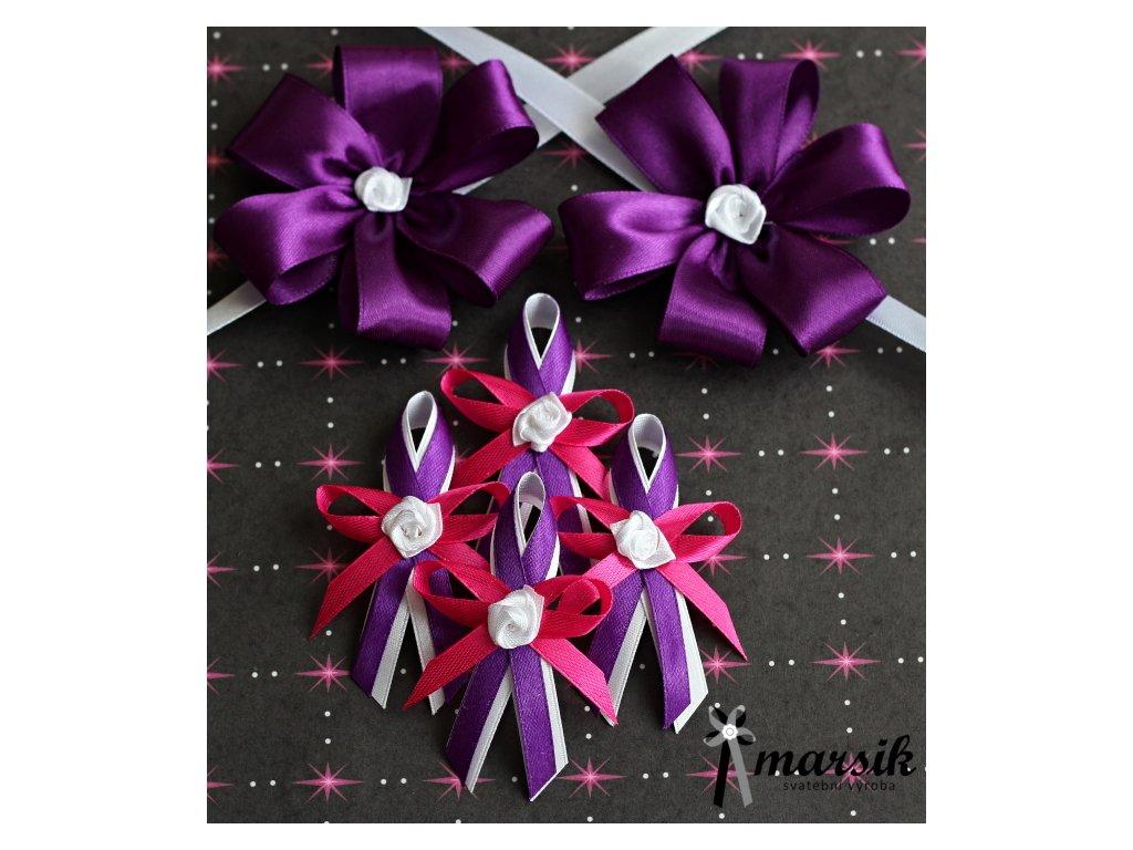 Vývazek violet pink Anna