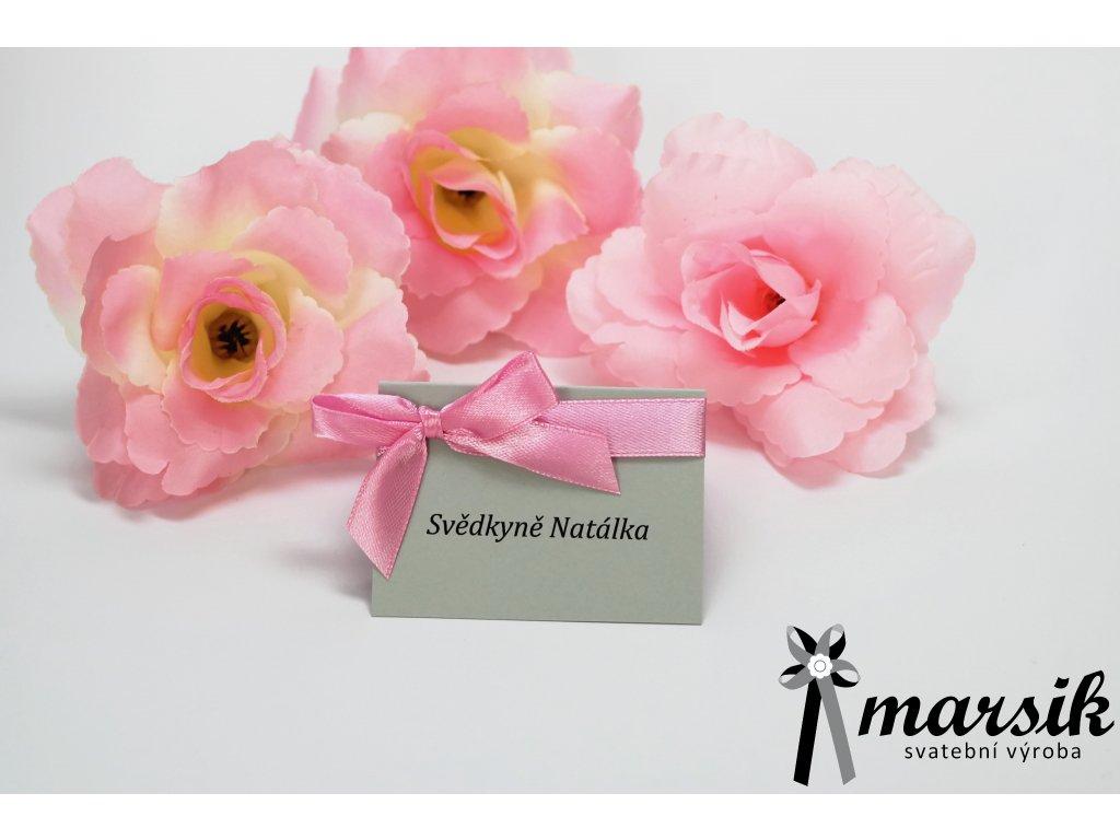 Jmenovka silver pink