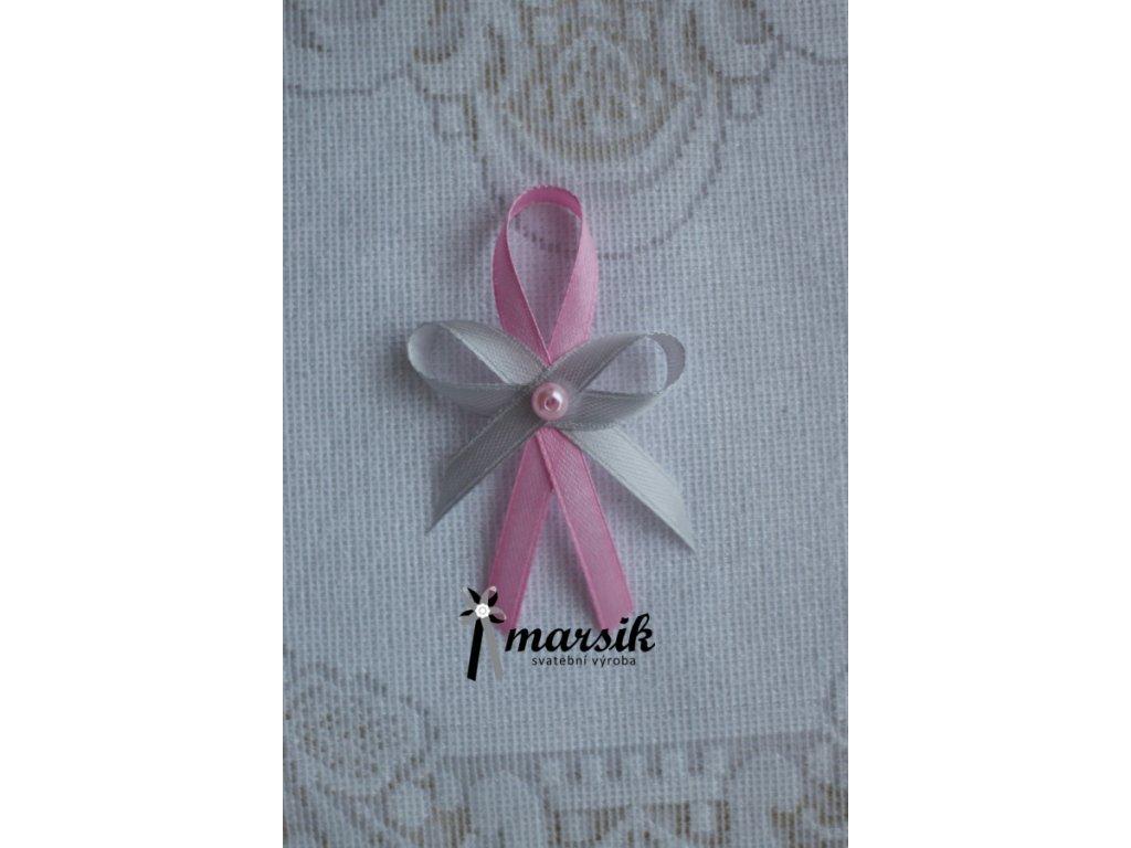 Vývazek pink silver Natalie