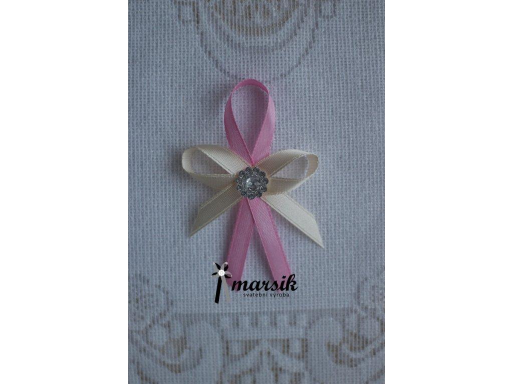 Vývazek pink creamy Celeste