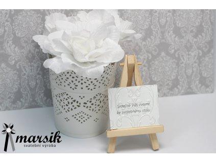 Pozvánka ke stolu bordo floral