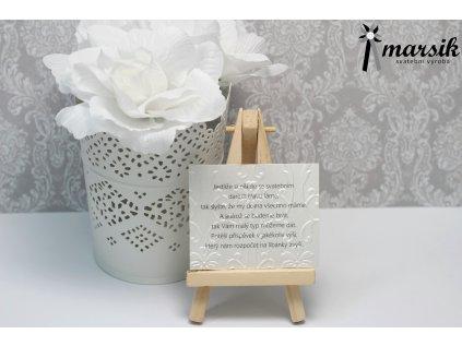 Básnička o daru bordo floral