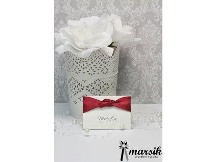 Jmenovka bordo floral
