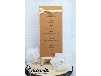 Svatební menu creamy rustic