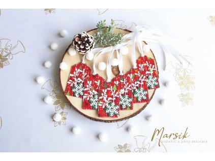 Vánoční visačky bílá hvězdička