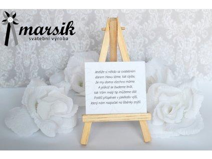 Básnička o daru creamy floral