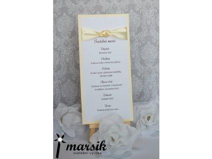 Svatební menu creamy floral