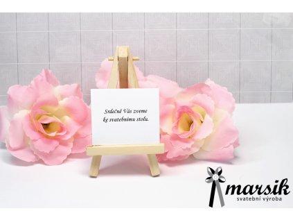 Pozvánka ke stolu pink