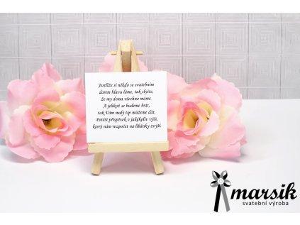 Básnička o daru pink