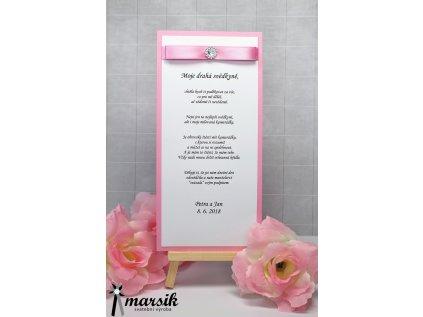 Poděkování svědkyni pink