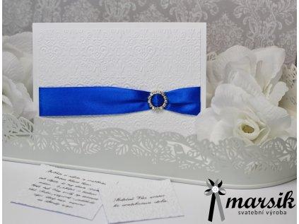 Svatební oznámení royal blue