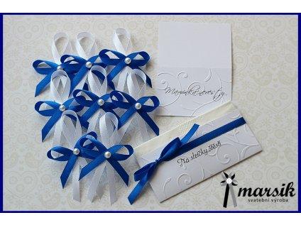 Svatební kapesník royal blue
