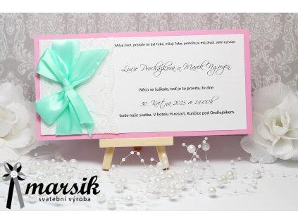 Svatební oznámení lace bows