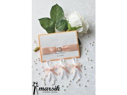 Svatební oznámení apricot floral