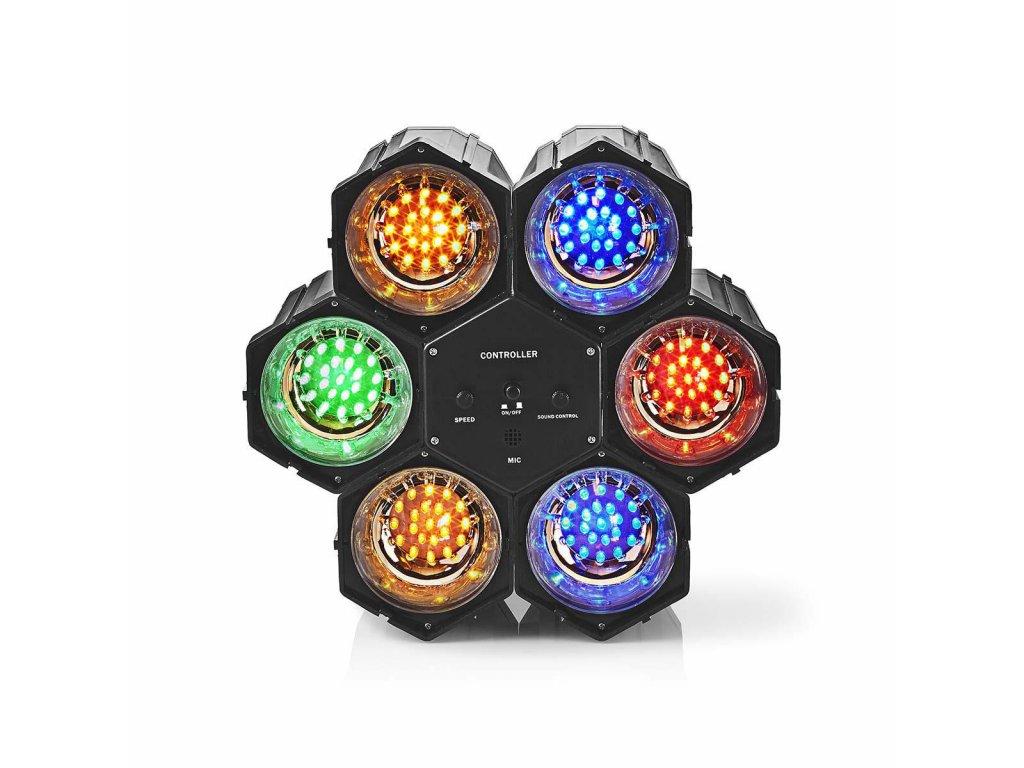 1040 vicebarevny led disco light sitove napajeni led pocet led 126 cerna