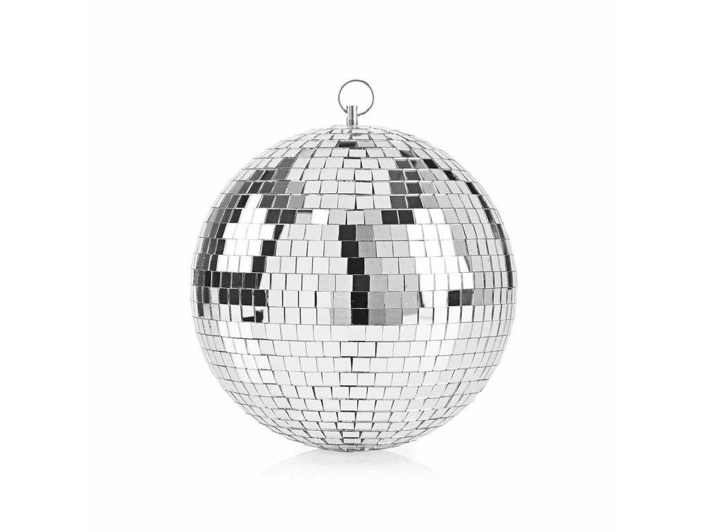 1049 zrcadlova disco koule 20 cm stribrna