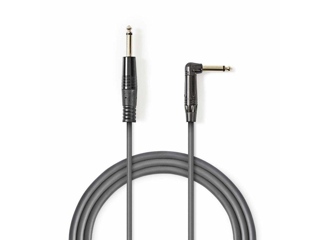 2633 mono audio kabel m 6 35 mm 6 35 mm f uhlova poniklovany 3 00 m kulaty pvc