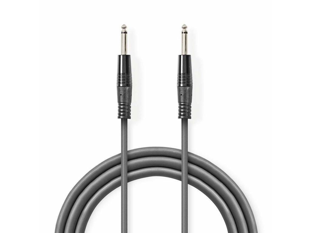 2642 mono audio kabel m 6 35 mm m 6 35 mm poniklovany 3 00 m kulaty pvc