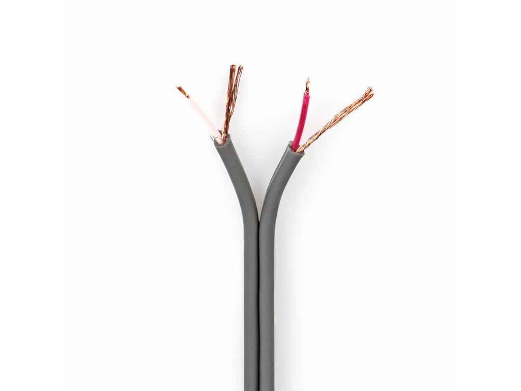 2648 symetricky audio kabel 2x 0 16 mm 100 m civka seda barva