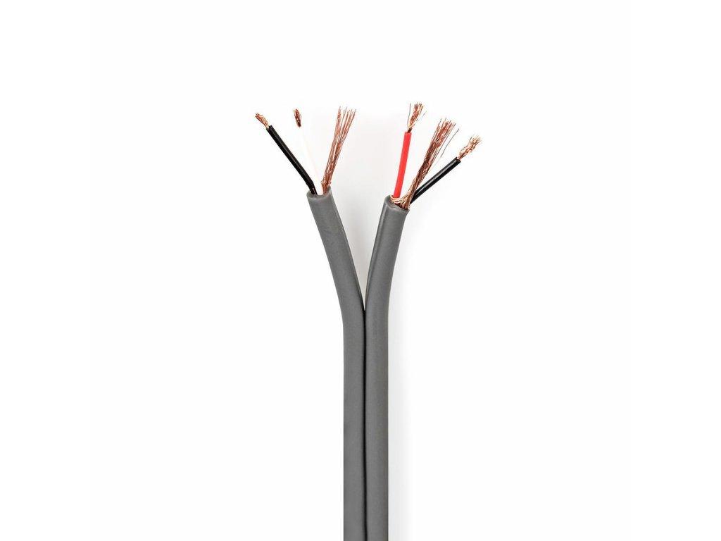 2651 symetricky audio kabel 2x 2x 0 16 mm 100 m civka seda barva