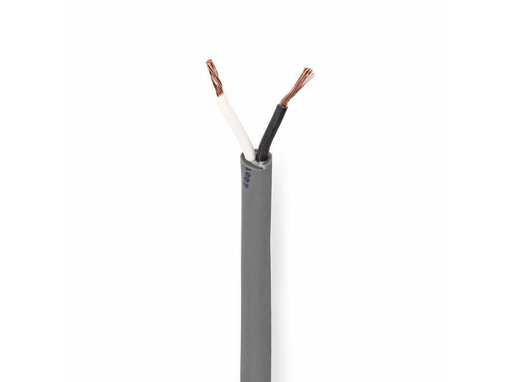 2660 repro kabel 2x 1 50 mm med 100 0 m kulaty pvc tmave seda role