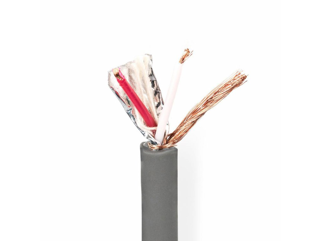 2666 dmx kabel 110 ohmu 2x 0 23 mm 100 m civka seda barva