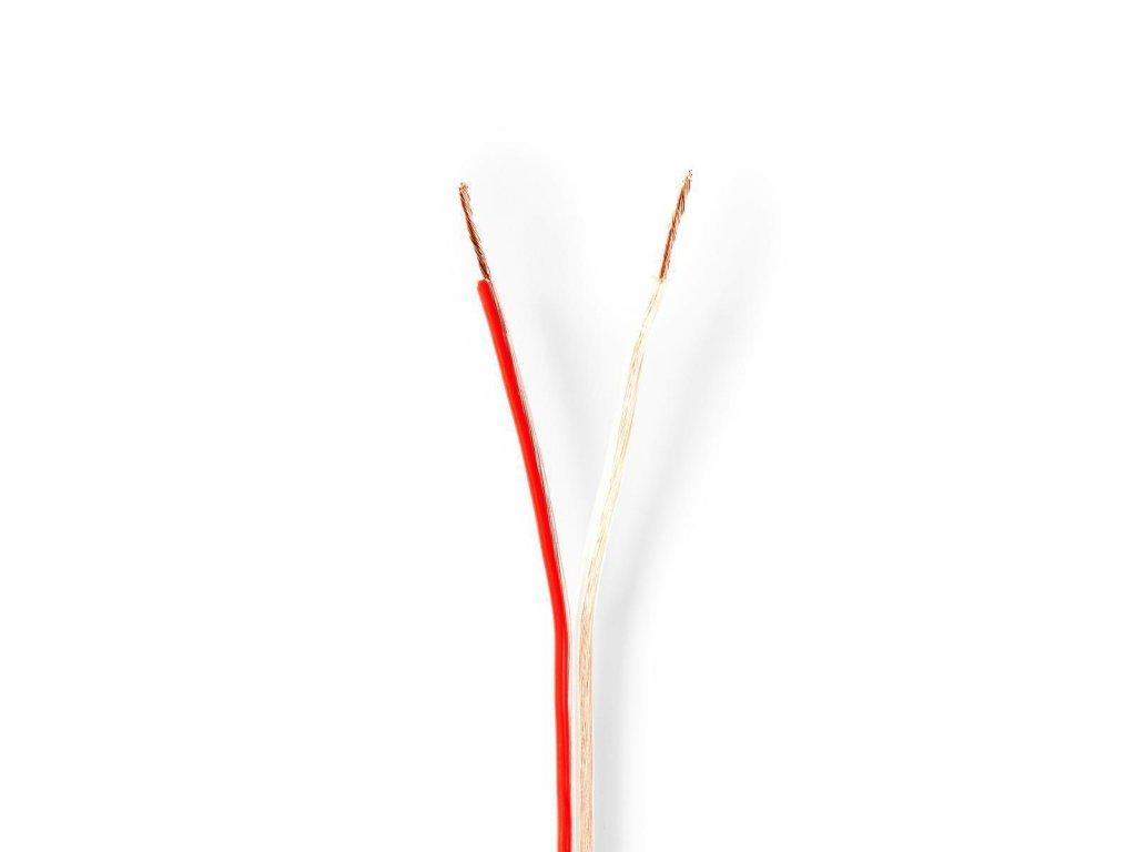 2672 repro kabel 2x 0 75 mm med 100 0 m kulaty pvc transparentni role