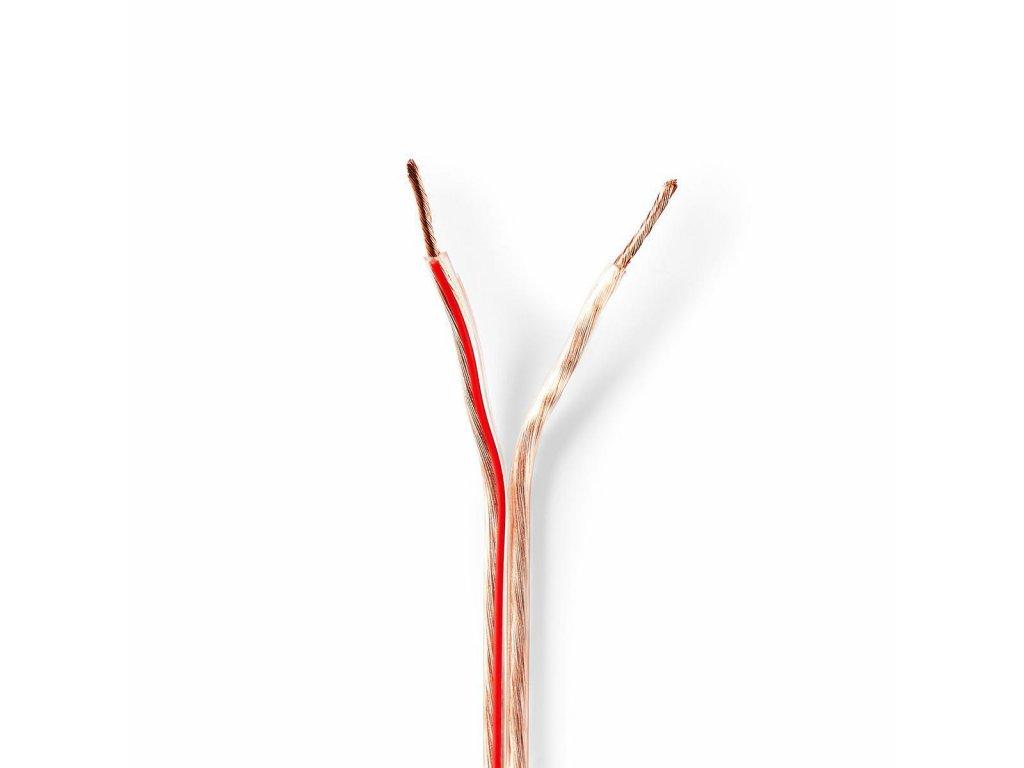 2717 repro kabel 2x 1 50 mm med 15 0 m kulaty pvc transparentni role