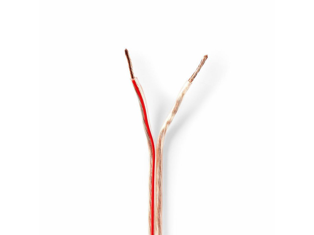 2723 repro kabel 2x 1 50 mm med 50 0 m kulaty pvc transparentni role