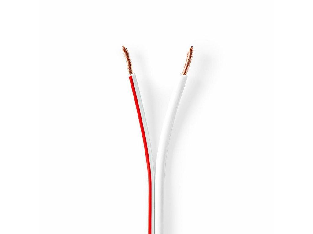 2780 repro kabel 2x 2 50 mm med 15 0 m kulaty pvc bila role