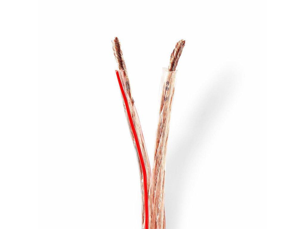2792 repro kabel 2x 6 00 mm med 15 0 m kulaty pvc transparentni role